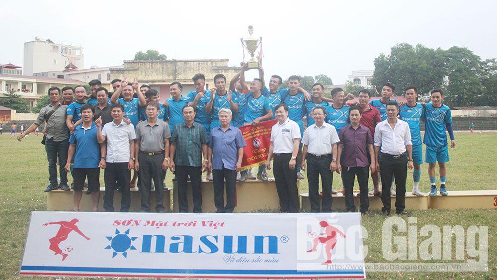 Giải Bóng đá tỉnh Bắc Giang- Cúp truyền hình 2018: Đội Lạng Giang bảo vệ thành công ngôi vô địch